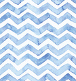 Blue watercolor seamless pattern with blue zigzag vector image