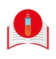 book school with education icon vector image