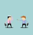 Businessman trading job vector image