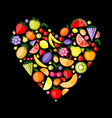 Energy fruit heart shape for your design vector image
