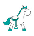 isolated horse toy design vector image