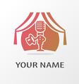 logo actor vector image