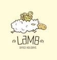 modern professional sign logo lamb holiday vector image