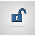 Open lock icon - icon vector image
