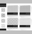 Set of abstract seamless patterns 3 vector image