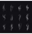 12 different isolated smoke Realistic smoke vector image