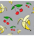 seamless sticker pattern with bananas and vector image