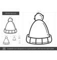 winter hat line icon vector image