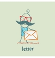 letter vector image