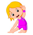 Yoga kids gymnastic for children and healthy life vector image