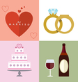 Wedding accessories Set II vector image vector image