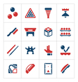 Set color icons of billiards snooker and pool vector image