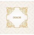 Calligraphic frame vintage elegant text vector image vector image