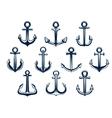 Heraldic set of marine ships anchors vector image vector image
