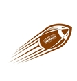 American football or rugby ball flying through the vector image