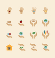 charity and donation icons flat line design vector image