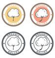 Cotton logo set Cotton labels stickers and emblems vector image