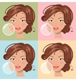 Different skin problems vector image