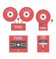 Fire alarm flat icon vector image