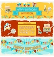 Happy Birthday horizontal banners vector image