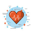 hearth in circle health vector image