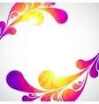 Pattern with frame colorful water drop vector image
