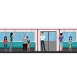 People inside a subway train People metro vector image