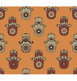 Seamless pattern with hamsa vector image