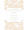 wedding card in retro design vector image