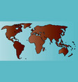 world map outline vector image