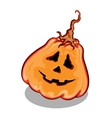Halloween pumpkin with funny face expression vector image