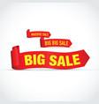 big sale set of signs vector image vector image