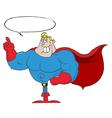 Super hero cartoon vector image