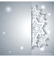 Christmas Snowflake Greeting Card vector image vector image