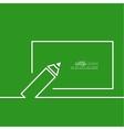 Pencil with a board vector image