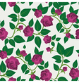 Crimson Roses Seamless Pattern vector image vector image