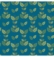 Seamless green leaves pattern background vector image