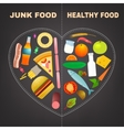 Healthy food infographics vector image