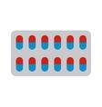 Pills blister vector image