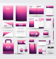 business corporate identity template set with logo vector image
