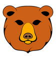 head of bear icon cartoon vector image