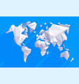 origami world map vector image