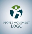 PEOPLE MOVEMENT LOGO 3 vector image