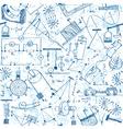 Physics seamless pattern vector image