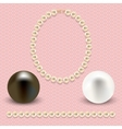 pink with pearls vector image