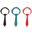set of ties vector image
