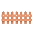 Isolated wood fence design vector image
