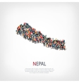 people map country Nepal vector image