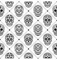 halloween seamless pattern mexican sugar skull vector image