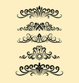 Floral ornament decorations vector image